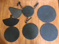 Drum Silencers/Practise Pads 7 pieces - Pro standard