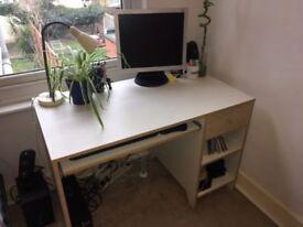 Computer Desk with sliding tray / drawer / shelves