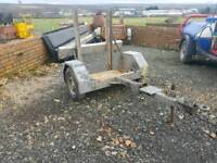 Pedestrian roller transport trailer has recent new hitch fitted