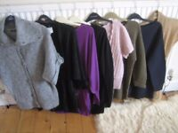 Ladies clothes bundle size 12. Jumpers and cardigans. 8 items. £5.00 for the lot.