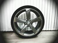 Audi rotor alloy 19inch with Dunlop tyre
