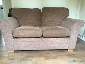 Brown two seater sofa, £50, collection only