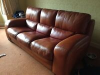 quality leather sofa just £120
