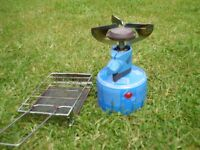 single ring camping stove with toaster