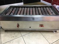 Commercial gas kebab grill