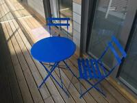 Blue Three Piece Patio Set