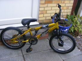 "BOYS 18"" WHEEL BMX BIKE IN GREAT WORKING CONDITION AGE 5+"
