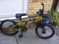 """BOYS 18"""" WHEEL BMX BIKE IN GREAT WORKING CONDITION AGE 5+"""