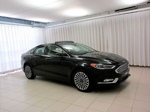 2017 Ford Fusion SE AWD ECOBOOST SEDAN w/ LEATHER INTERIOR, NAVI