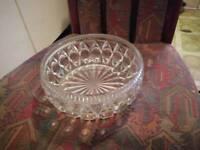 Large crystal glass bowl