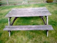 Picnic benches x3
