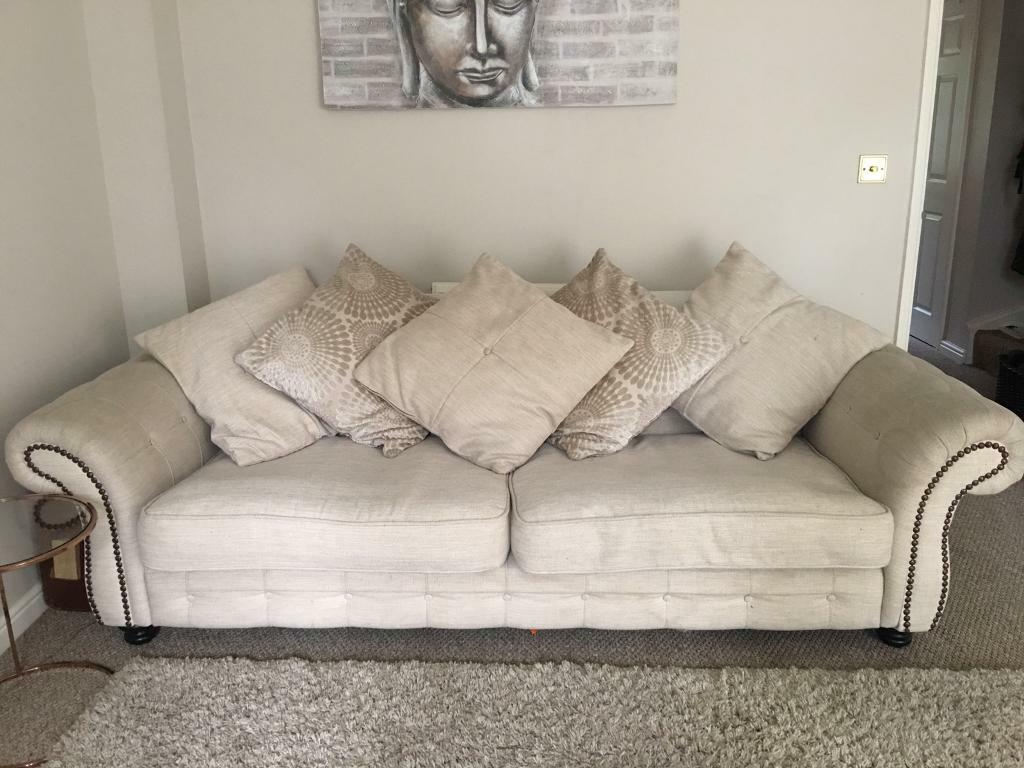 Sofa Beige Cream Dfs Extra Large
