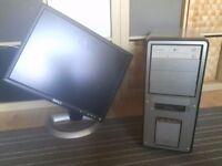 20inch Dell Screen & Old Empty PC Case