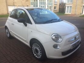 FIAT 500 POP 1.2 3DR WHITE (2011) - FULL SERVICE HISTORY - RED INTERIOR -