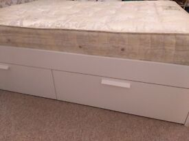 King size storage bed and mattress
