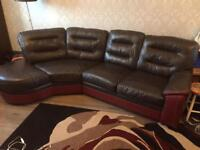 Lovely Leather corner sofa