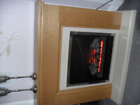 electric fire with oak surround