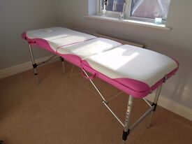 Portable massage table, nearly new.