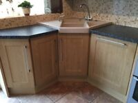 Full fitted kitchen, quality kitchen wall and base units with appliances if required