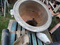 antique cooper water boiler cast iron