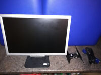 """19"""" Acer monitor with all cables and wall bracket"""