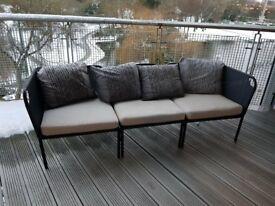 Ikea Outdoor Sofa and Cushions - Used