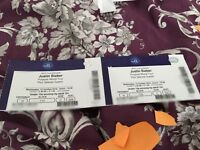 2X o2 Justin Bieber propose world tour tickets 12/10/16