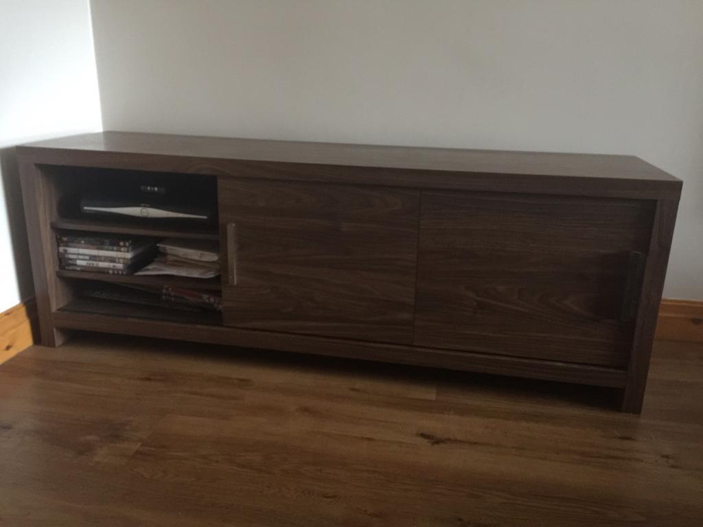Dark wood Next tv cabinet/sideboard