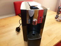 Verismo K.Fee coffee pod machine with pod holder and a few pods