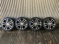 "Genuine 18"" Volkswagen Golf GTD Sevilla Alloys Wheels- 5x112 - will fit Leon, A3 etc"
