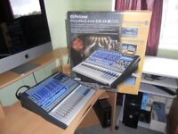 digital mixer presonus studiolive 16.0.2 boxed with gig bag in as new condition bargain.
