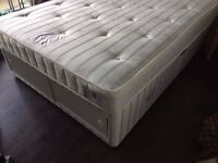 John Lewis Double Bed and Double Mattress - NEARLY NEW, 2 YEAR GUARANTEE Divan Bed Base with storage