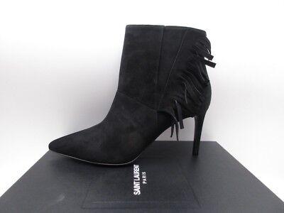 Yves Saint Laurent Paris 80 Fringe Ankle Boots Booties $995 39.5 9.5