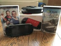 PSP with box, games and case