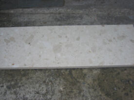 CREAM MARBLE HEARTH EXCELLENT CONDITION