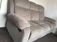 3 seater and 2 seater recliner sofa set