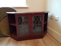 Corner TV and sound system cabinet
