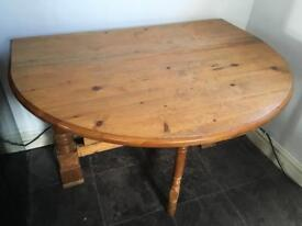 Solid ducal pine drop leaf dining table