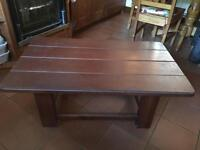 Coffee table / tv stand dark wood