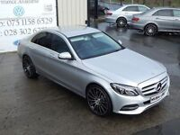 LATE 2014 MERCEDES C220 CLASS BLUTEC SPORT AUTO 170BHP SALOON (FINANCE & WARRANTY AVAILABLE)