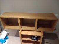 Oak Veneer Vertical wall mountable Storage unit