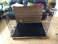 "ellie bo black 48"" dog cage"