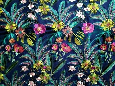 A44A ELEGANT FLORAL EMBROIDERED/WOVEN FABRIC  MULTIPURPOSE FABRIC 3YARDS
