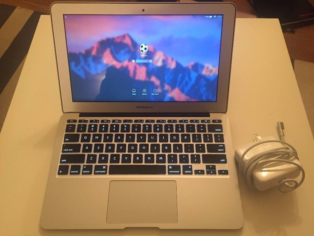 """MacBook Air 11"""" 2011 i5 1.6GHz 2GB RAM 64GB SSD A1370 with Casein Putney, LondonGumtree - I am selling a 2011 Macbook Air 11inch screen. Hardly used in Mint Condition, no scratches. New clean install of Sierra macOS. Great powerful portable travel Mac. Comes with a US Charger (you will need a UK/US plug adapter) Includes Faux Fur lined..."""