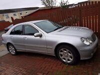 Silver Mercedes C200