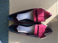 Pretty Burgundy Faith Ballet Pumps size UK 5
