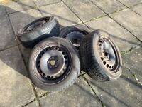 4 Winter Wheels Tyres for Skoda Superb or Similar, 7Jx16H2, 205 55 R16 91H (fits VW Audi Skoda Seat
