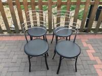 Set of John Lewis bistro style dining chairs