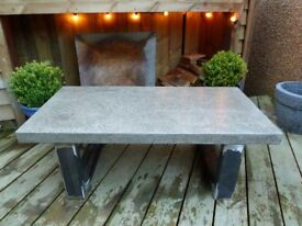 Retro Industrial style polished concrete coffee table