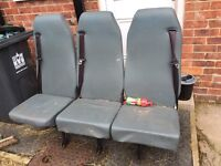 Van seats 2 sets of 3 like new